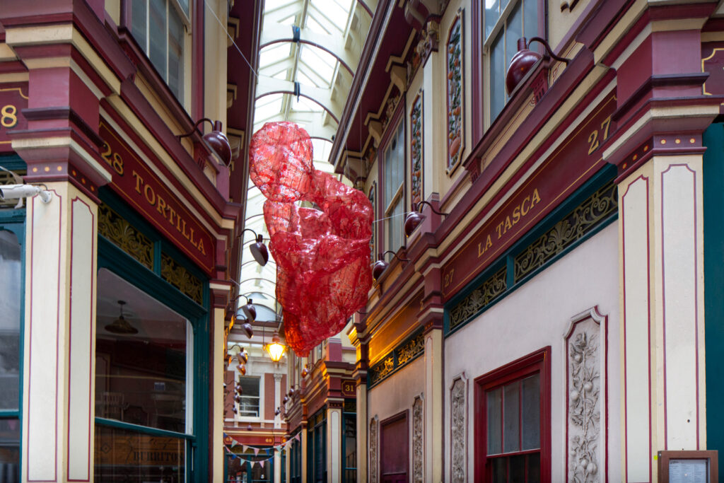 Untitled (Module 3), 2021, The Sculpture in the City, Leadenhall Market, London, 2021., courtesy Irene Laub Gallery and l'étrangére