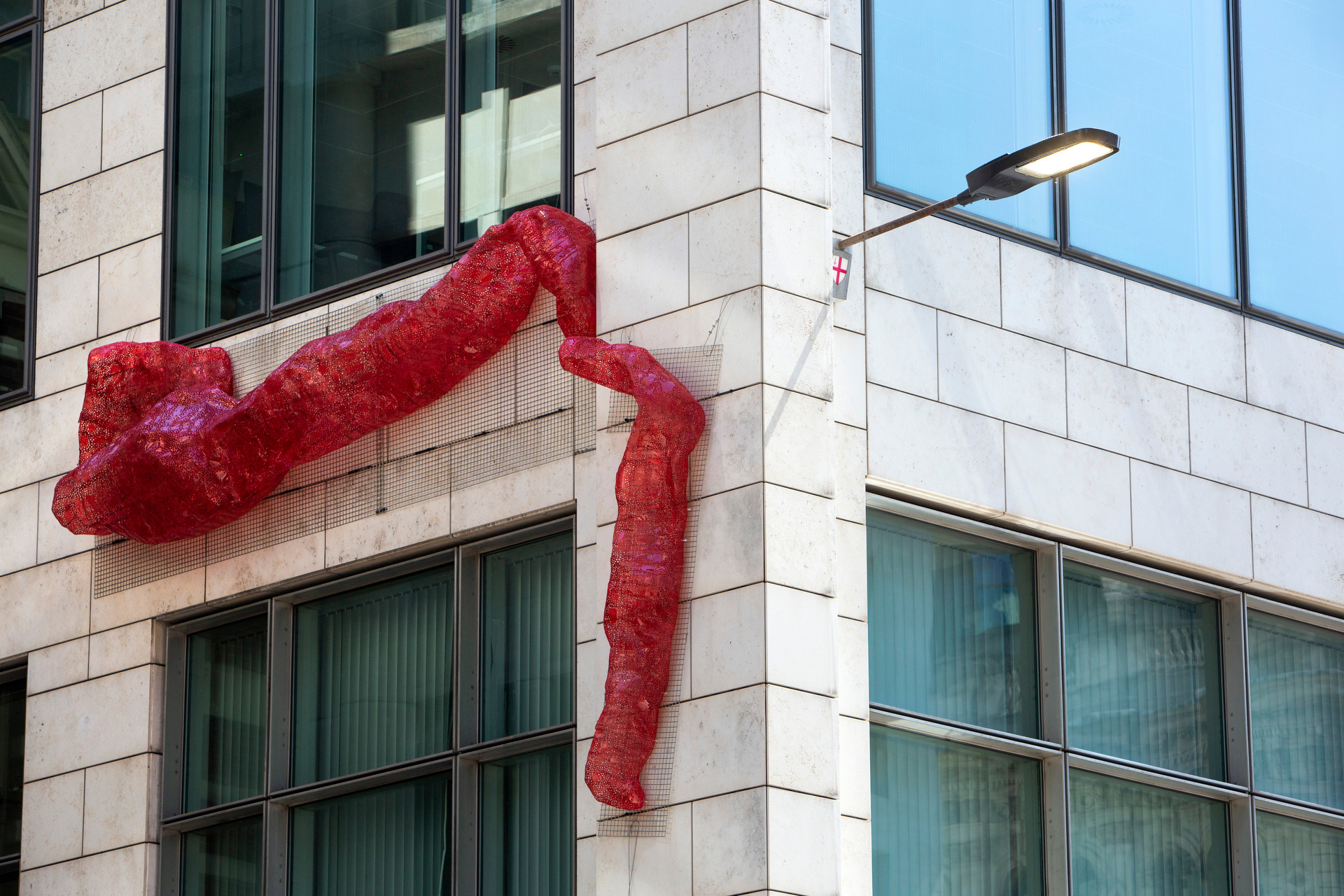 Untitled (Module 4), 2021, The Sculpture in the City, 70 Gracechurch St, London, 2021, courtesy Irene Laub Gallery and l'étrangére